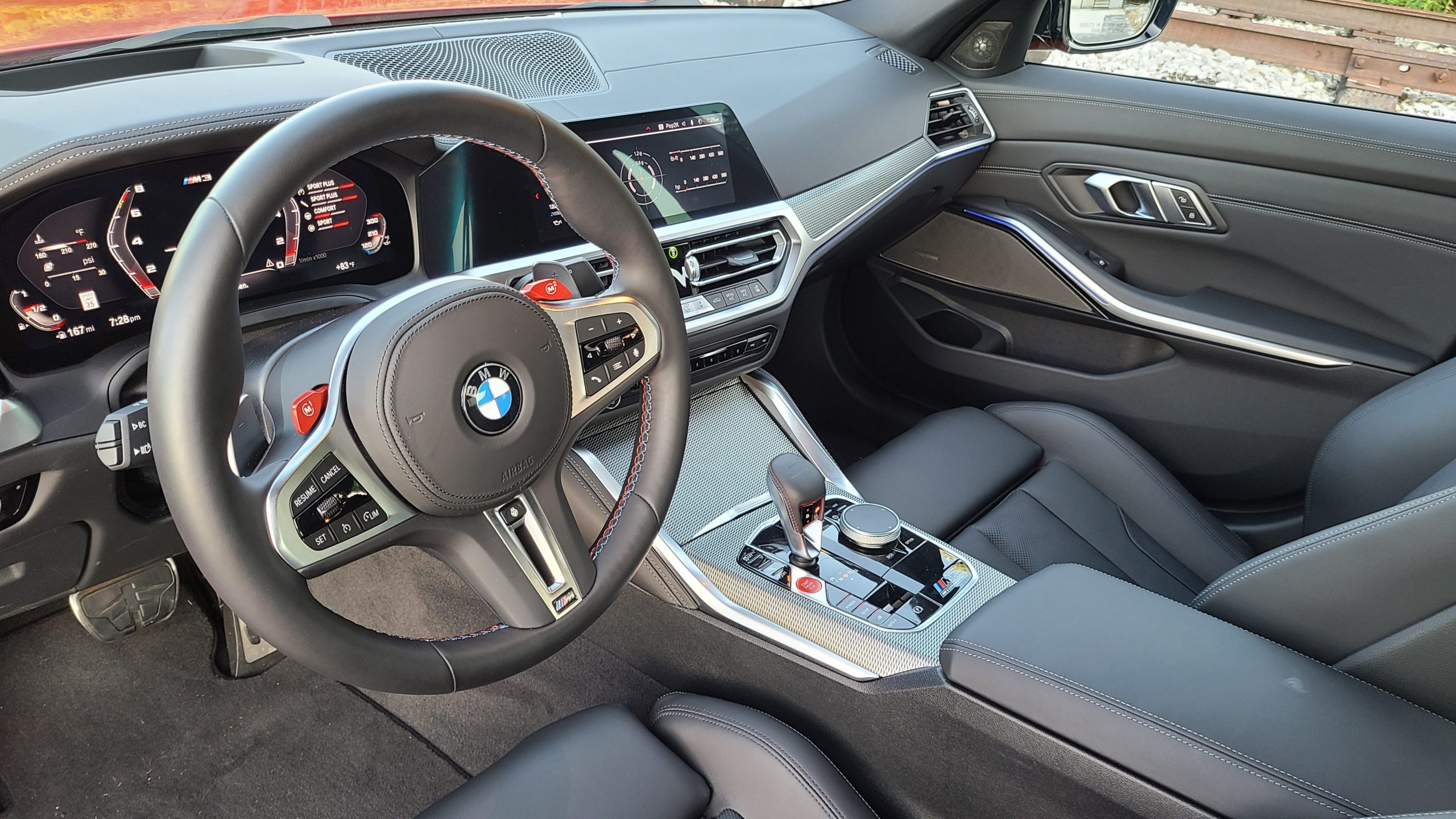 2021 BMW M3 Competition interior