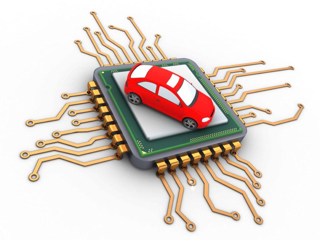 car semiconductor rendering