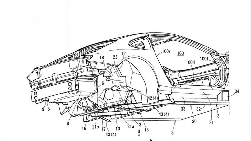 Mazda patent design