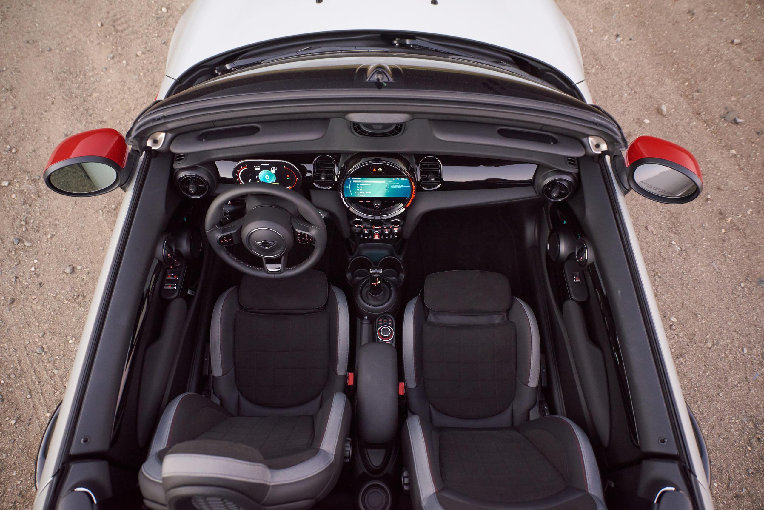 2022 MINI Cooper JCW Convertible Interior overhead photo