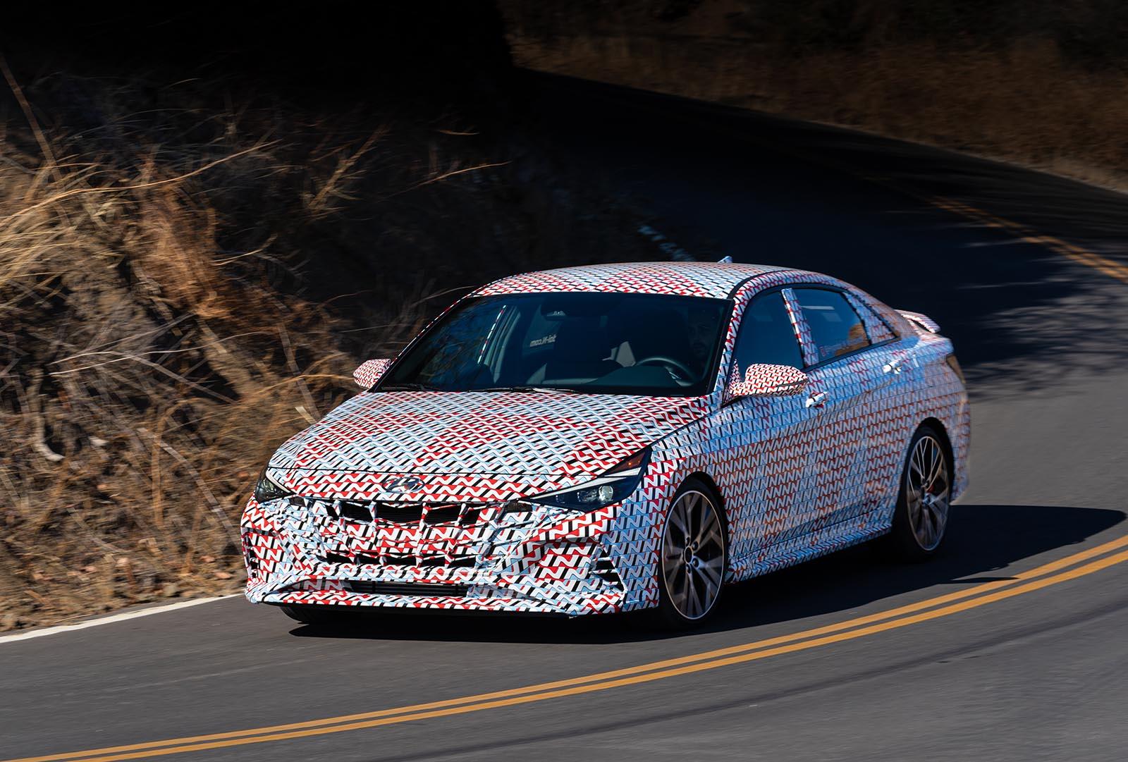 2022 Hyundai Elantra N in camo