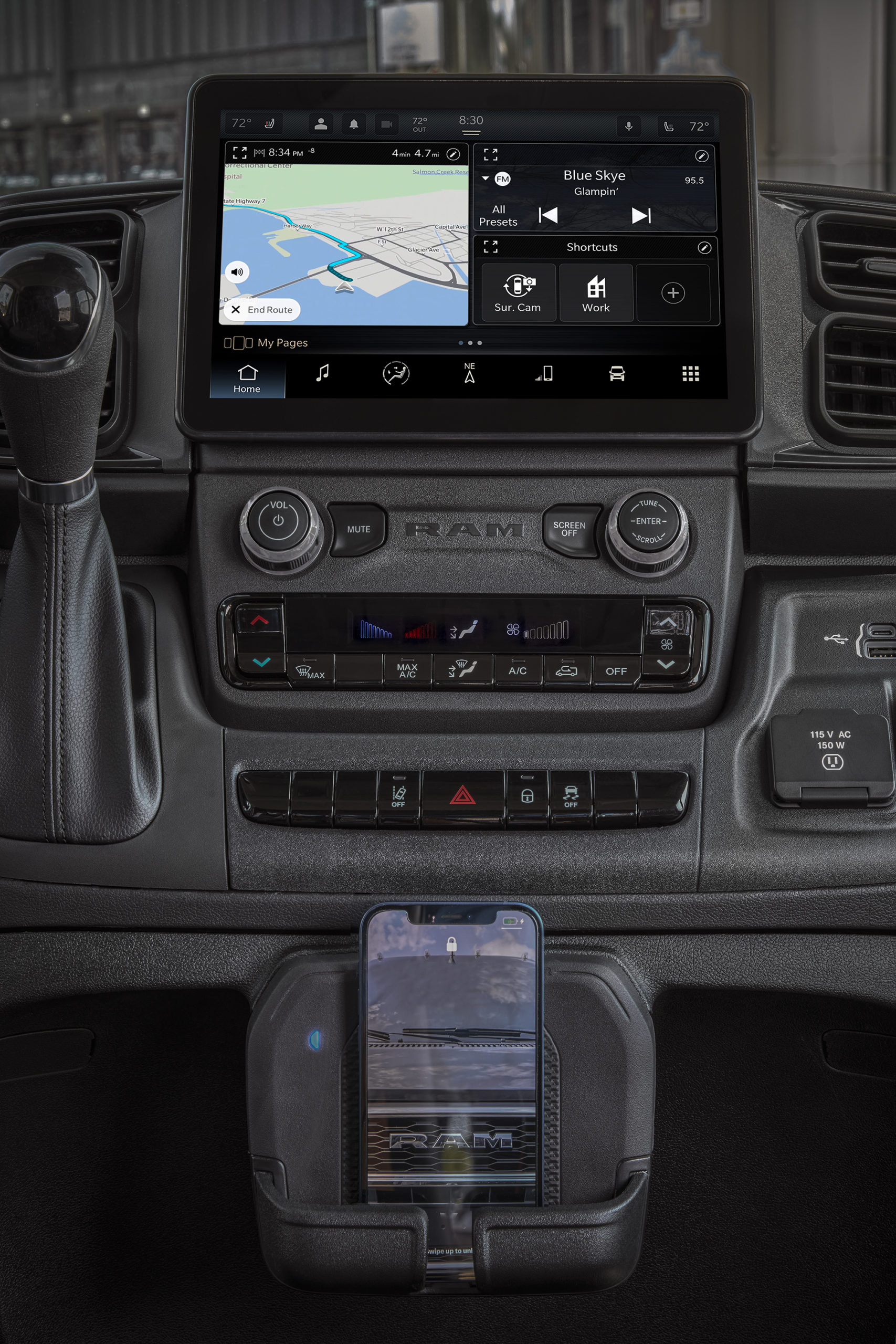2022 Ram ProMaster 3500 Interior with wireless charging pad