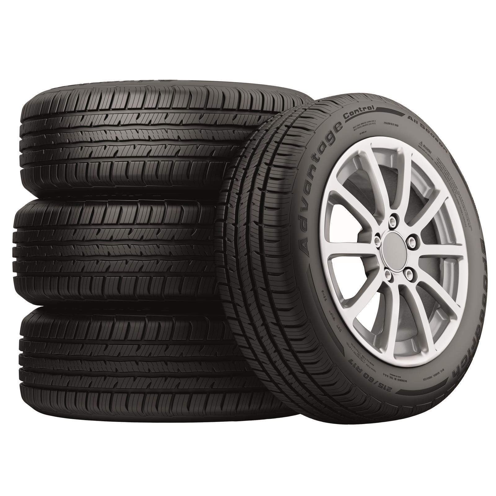 Stack of BFGoodrich Advantage Control all-season tires