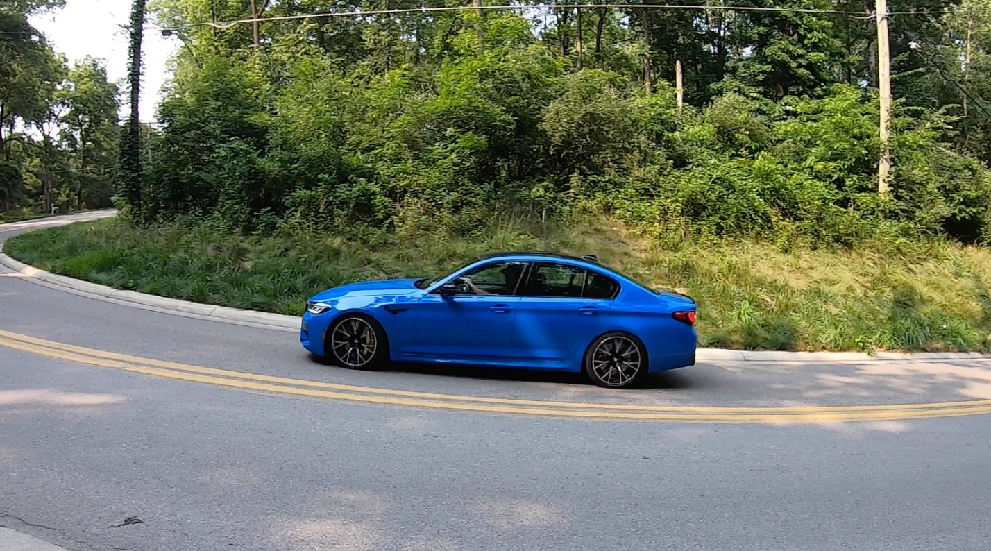 2021 BMW M5 Competition in action