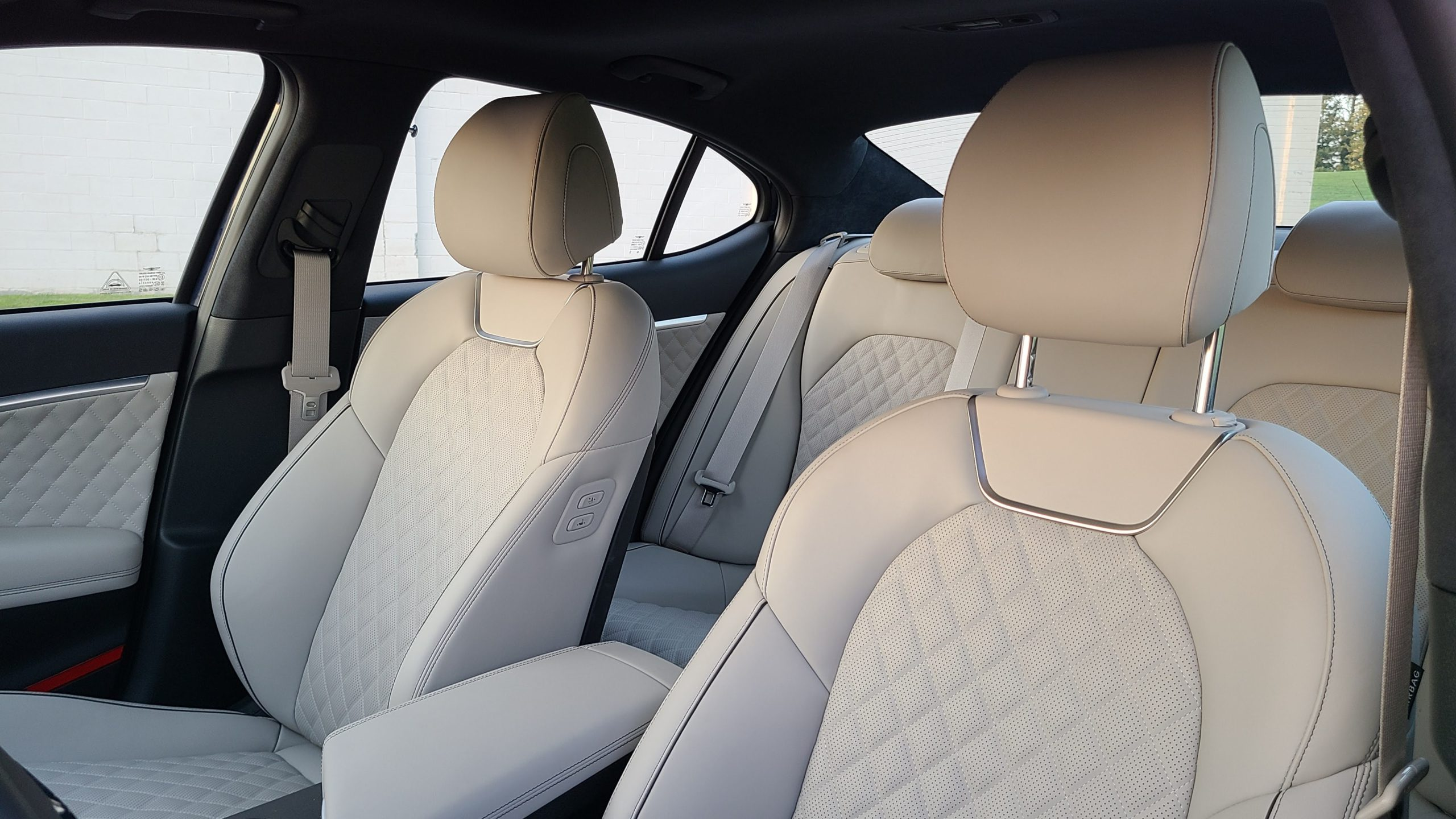 Genesis G70 front and rear seats