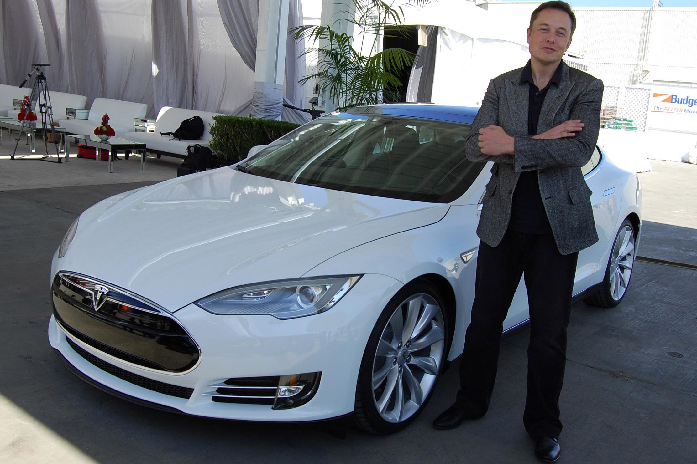 Elon Musk at Tesla Factory Fremont.