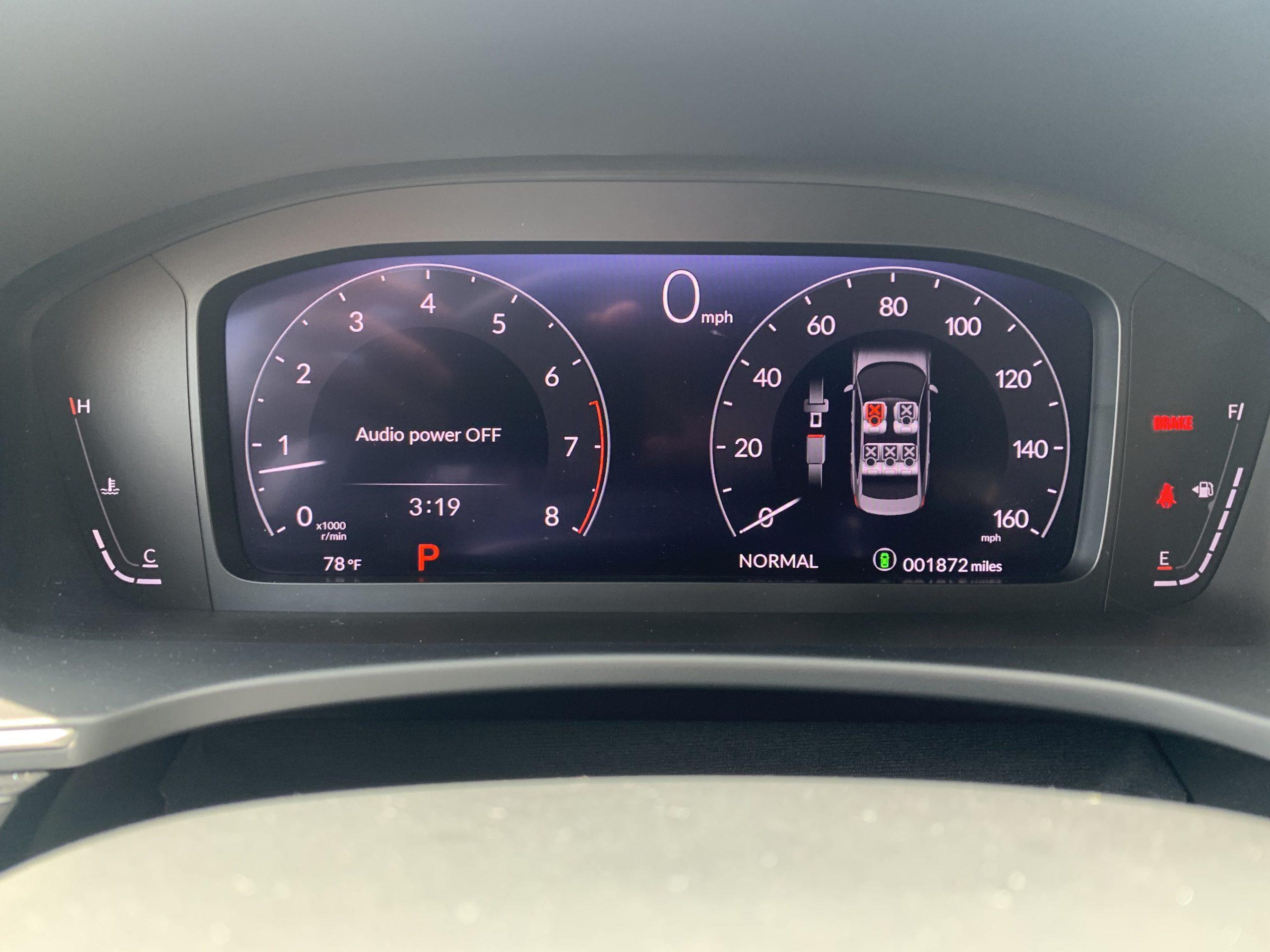 2022 Honda Civic sedan digital dashboard