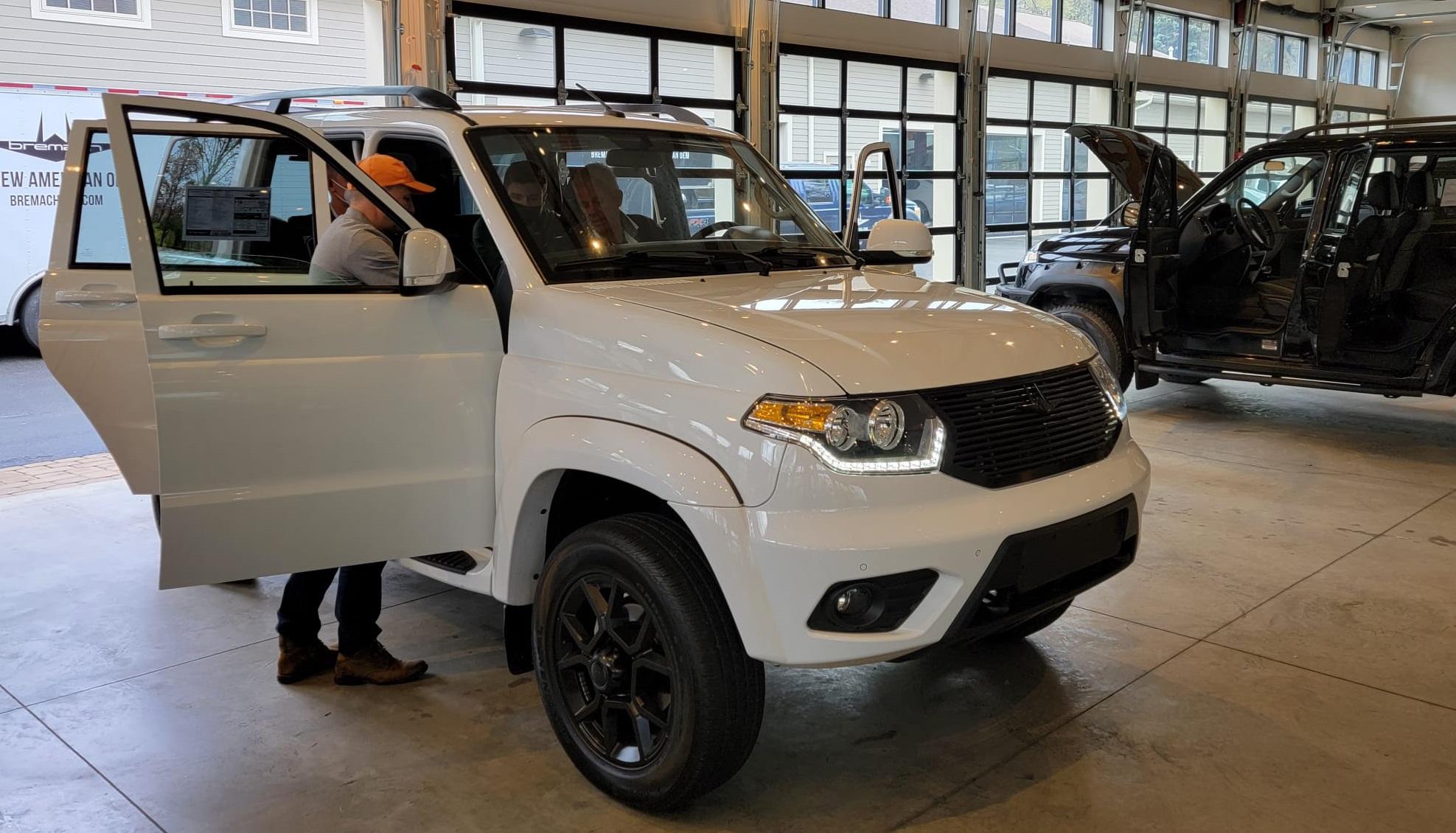 Stock white 2022 Bremach SUV