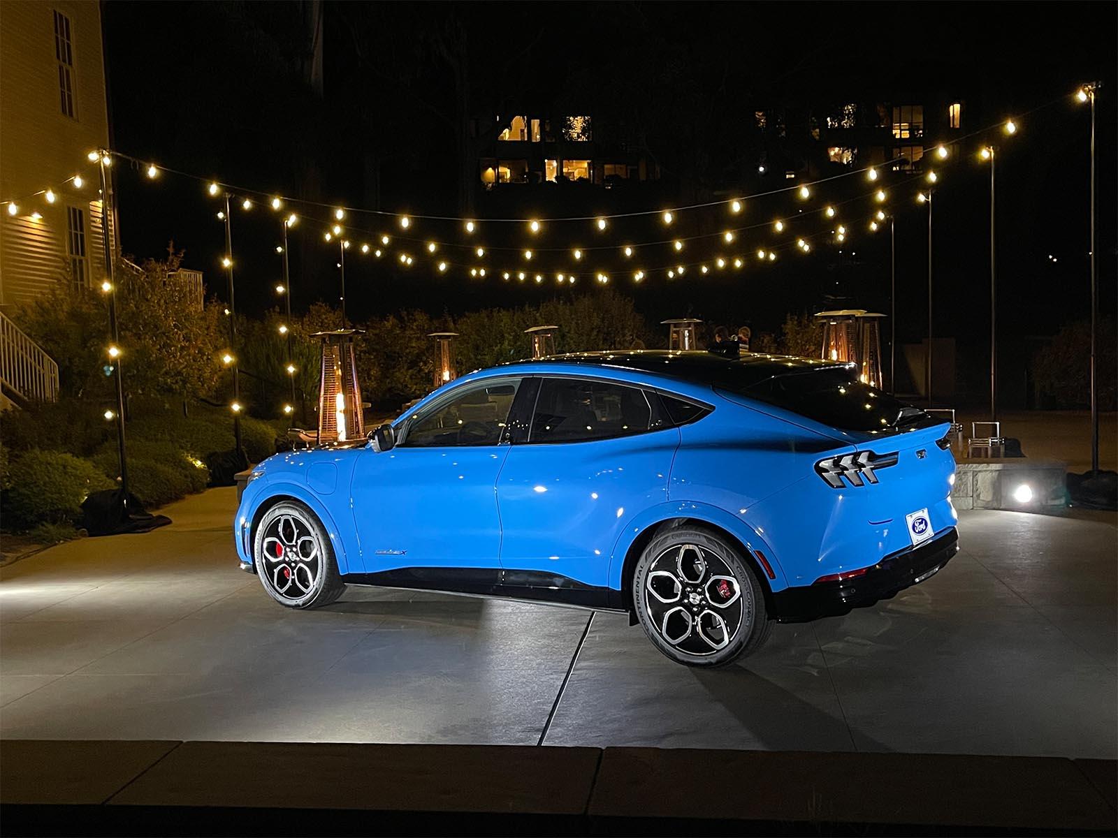 2022 Mustang Mach-E GT - rear 3-4 night