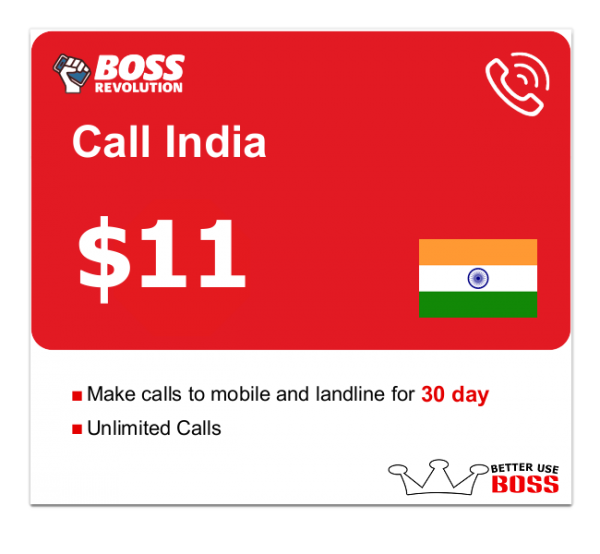 $11 Call India with boss revolution