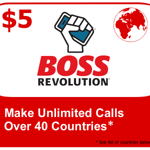 $5 Boss Revolution Unlimited Calls