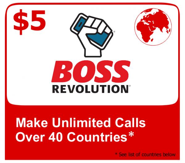 $5 Boss Revolution Unlimited Calls