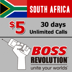 Unlimited calls to South Africa Boss Revolution