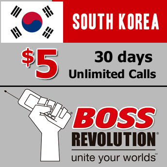 Unlimited calls to South Korea Boss Revolution
