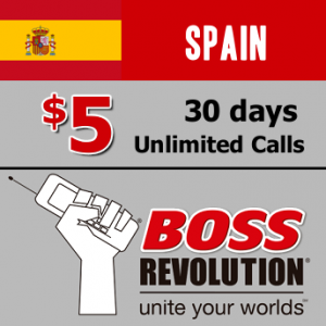 Unlimited calls to Spain Boss Revolution