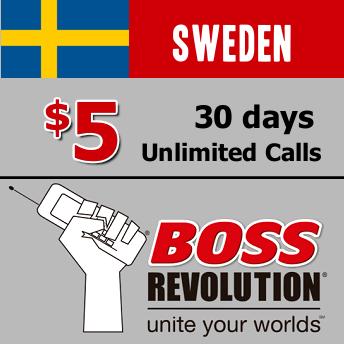 Unlimited calls to Sweden Boss Revolution