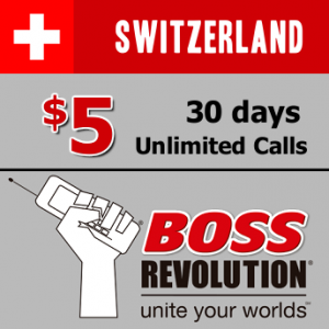 Unlimited calls to Switzerland Boss Revolution