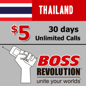 Unlimited calls to Thailand Boss Revolution