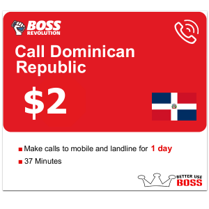 $2 Calls to Dominican Republic with Boss Revolution