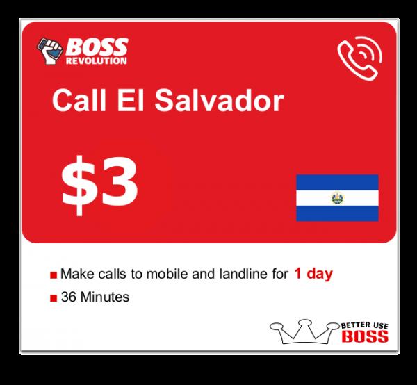 $3 Call El Salvador with Boss Revolution