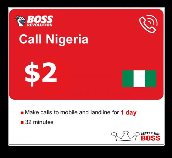 $2 Call Nigeria with Boss Revolution