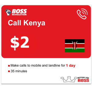 $2 Call Kenya with Boss Revolution