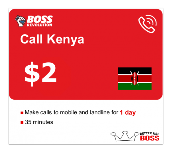 $2 Call Kenya with Boss Revolution
