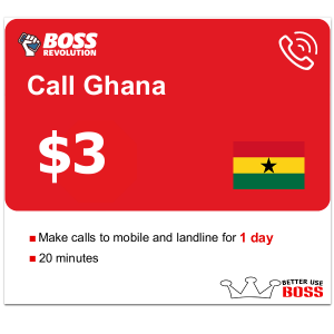 $3 Call Ghana with Boss revolution