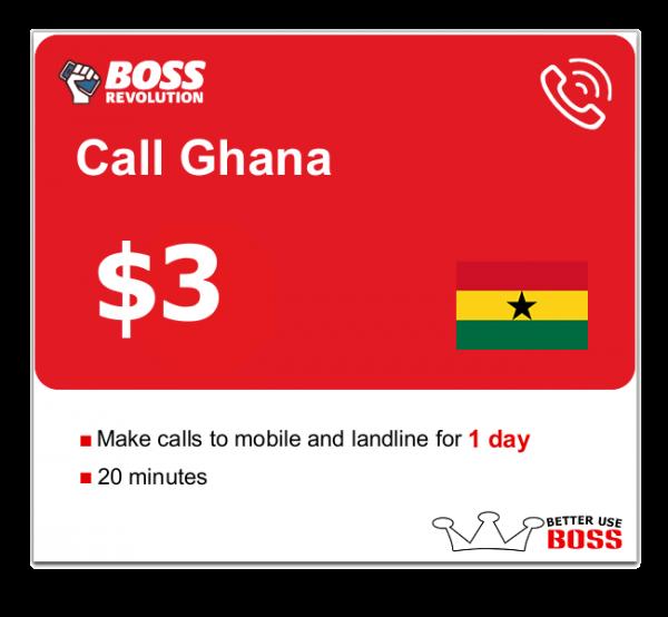 $3 Call Ghana with Boss revolution