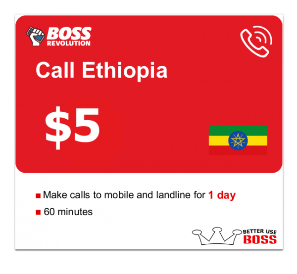 $5 Call Ethiopia with Boss Revolution