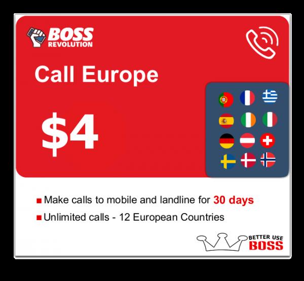 $4 Call Europe