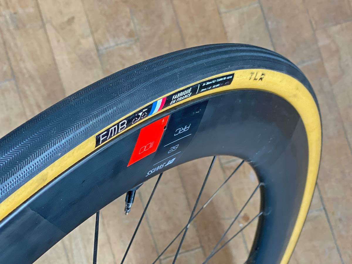 FMB Cobbles tubeless-ready TLR 29mm tire, handmade-in-France supple open-tubular tubeless clincher road bike tires