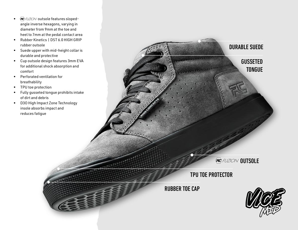 Ride Concepts Vice Mid shoe features