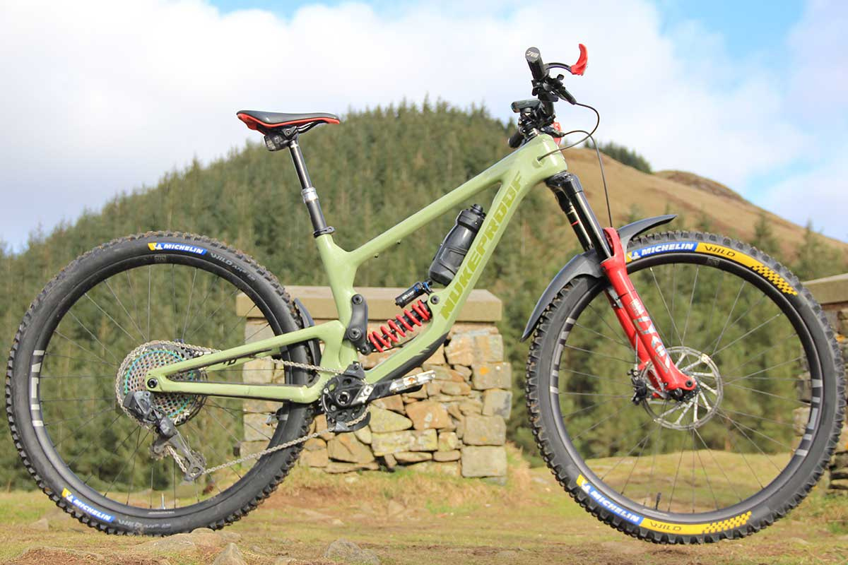 bike check nigel page team crc manager nukeproof giga super enduro bike tweed valley scotland