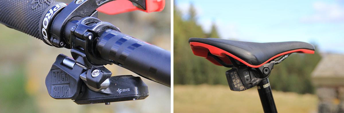rockshox reverb axs electronic dropper seat post 175mm travel nigel page nukeproof giga medium frame