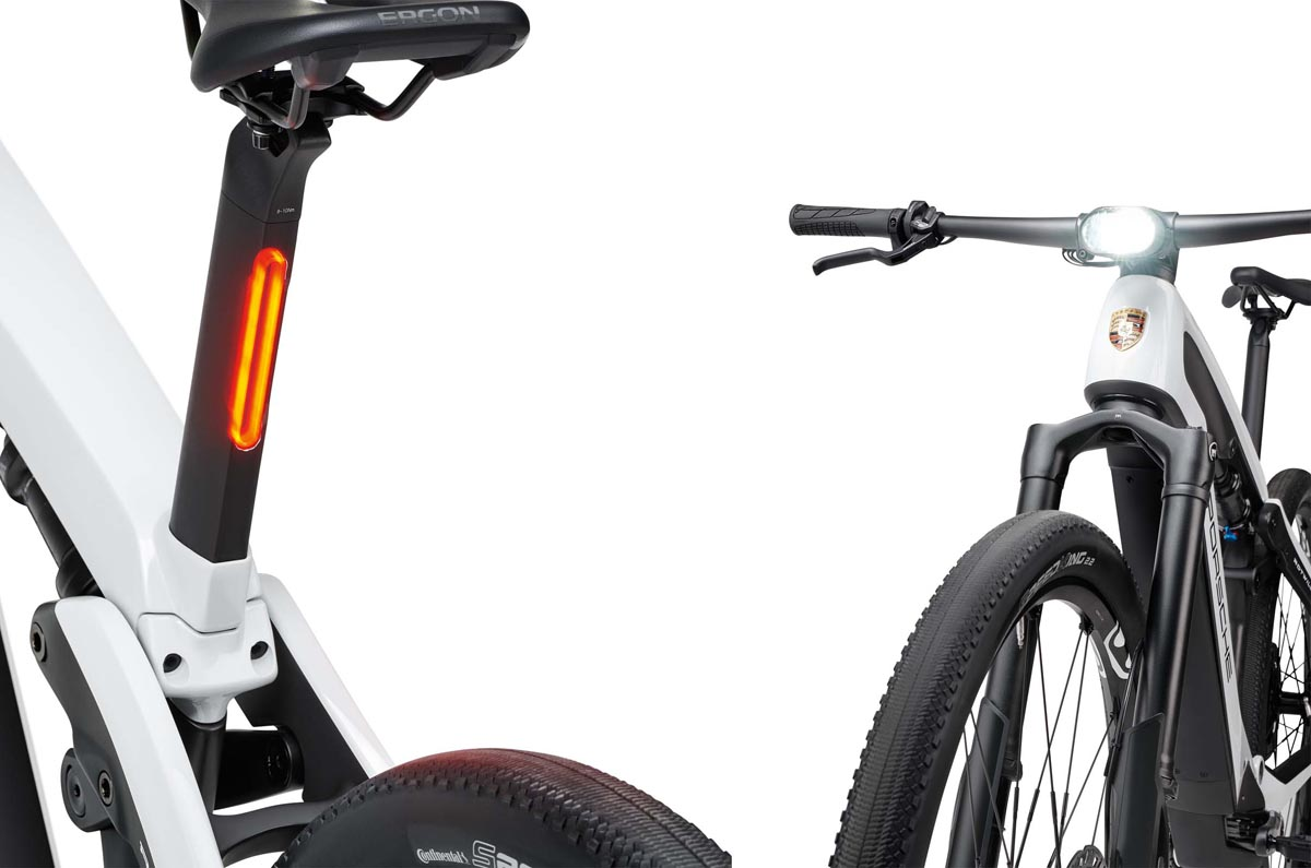 Porsche e-bike sport lights