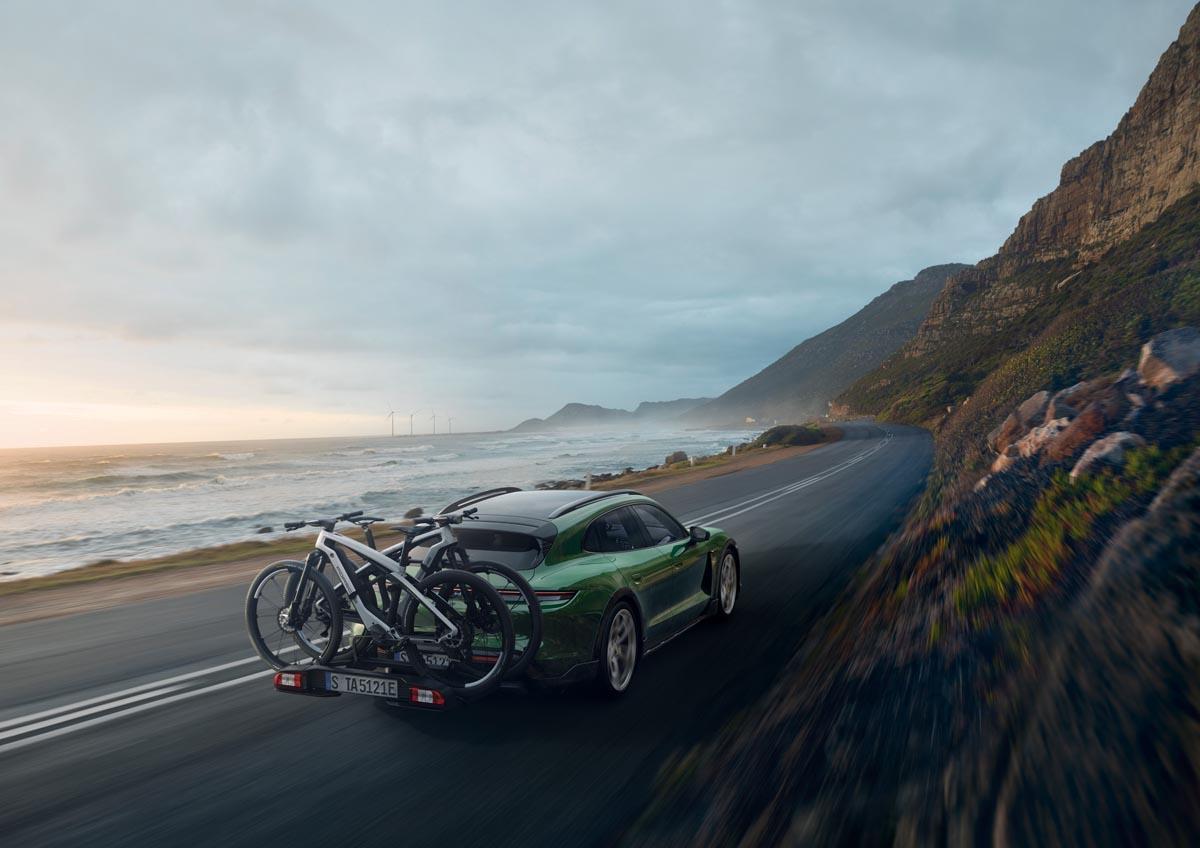 Porsche e-bikes on Taycan