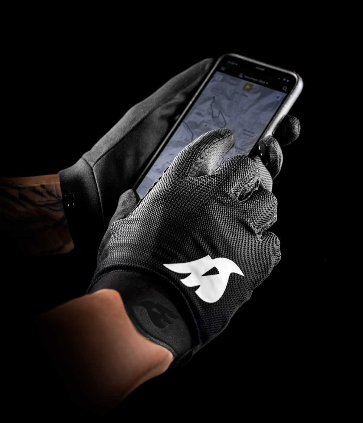 bluegrass union mtb gloves touchscreen use compatible