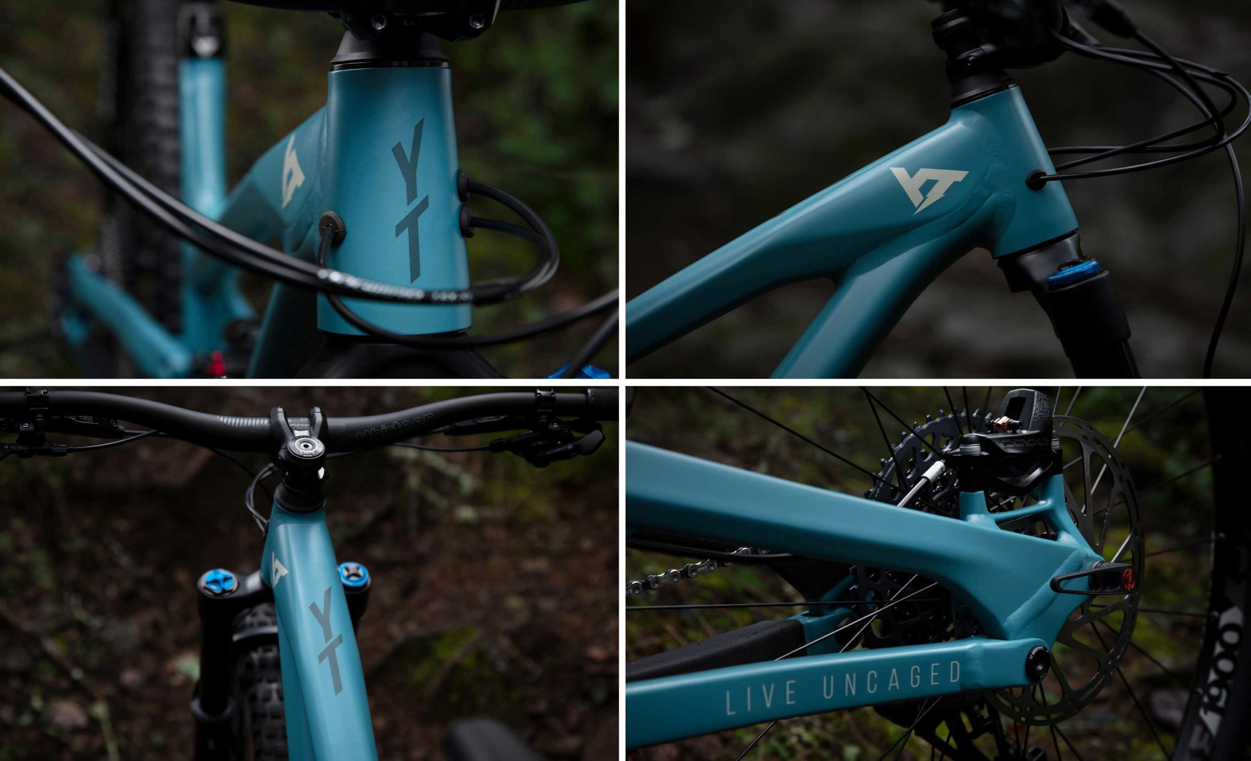 yt capra pro al aluminium enduro bike frame details