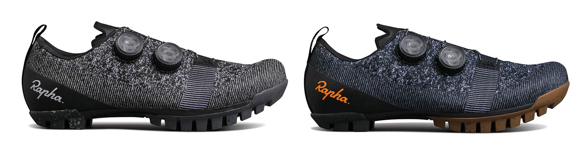 Rapha Explore Powerweave carbon-soled gravel bike shoes,colors black or navy blue