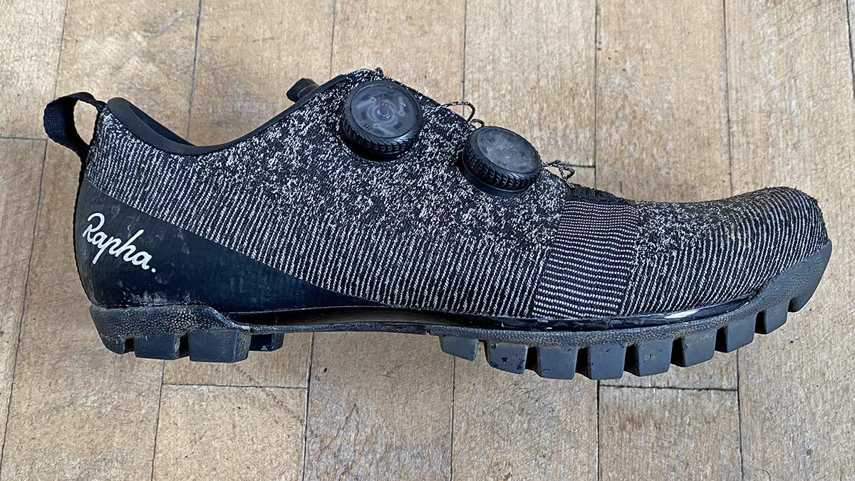 Rapha Explore Powerweave carbon-soled gravel shoe review,side