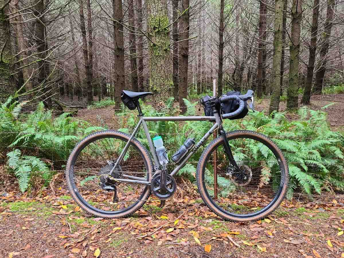 surly straggler bicycle in witchy woods in Langlois, Oregon