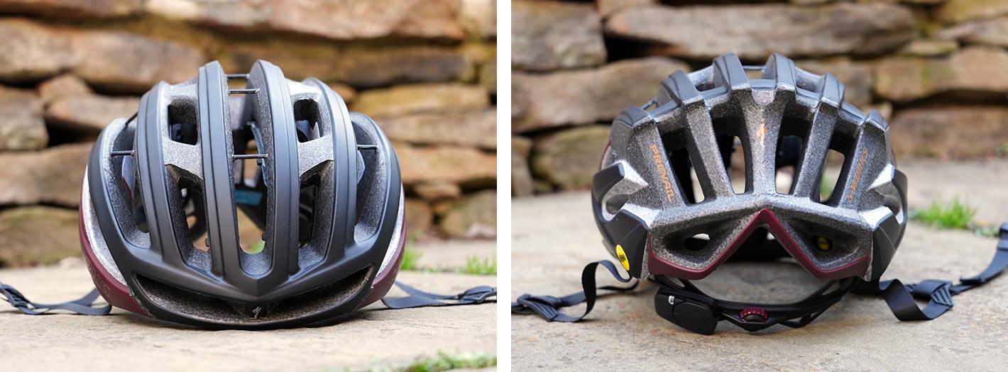 specialized prevail 2 vent road bike helmet details
