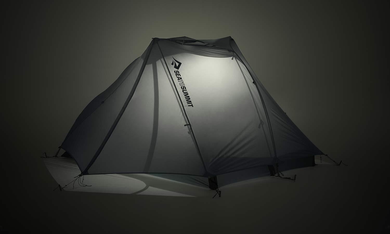 Sea to Summit Alto and Telos TR lightweight tents, Tension Ridge modular 3-season ultralight bikepacking tent,lightbar night glow