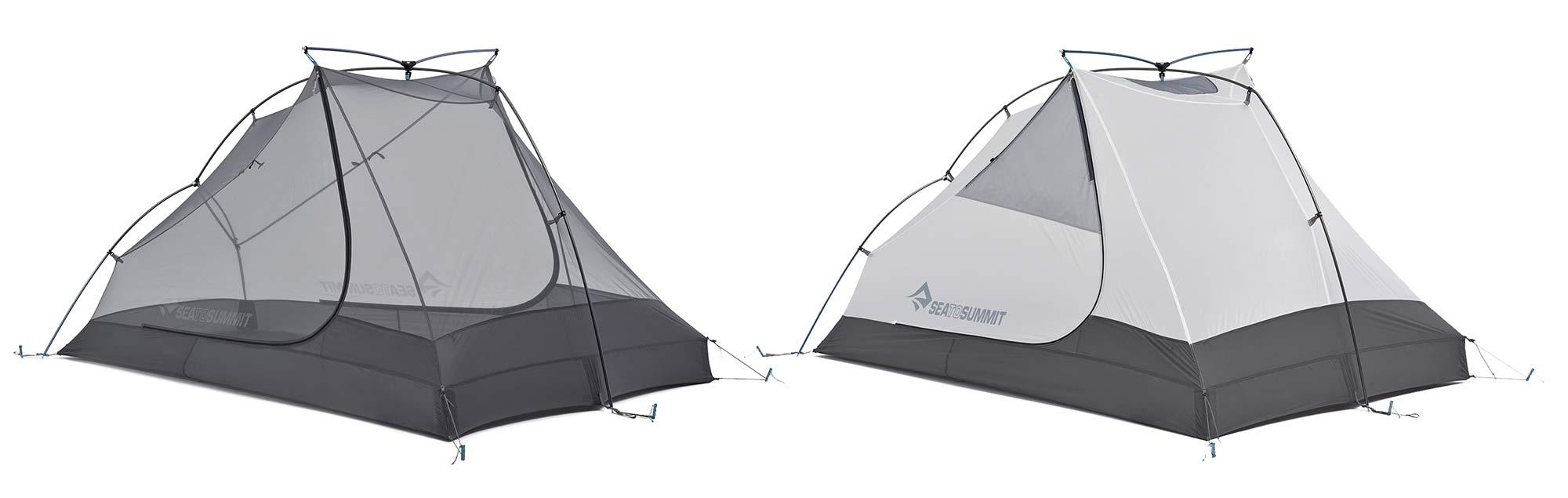 Sea to Summit Alto and Telos TR lightweight tents, Tension Ridge modular 3-season ultralight bikepacking tent,mesh or fabric