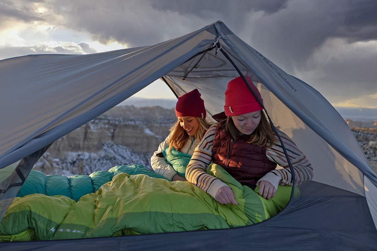 Sea to Summit Alto and Telos TR lightweight tents, Tension Ridge modular 3-season ultralight bikepacking tent,open