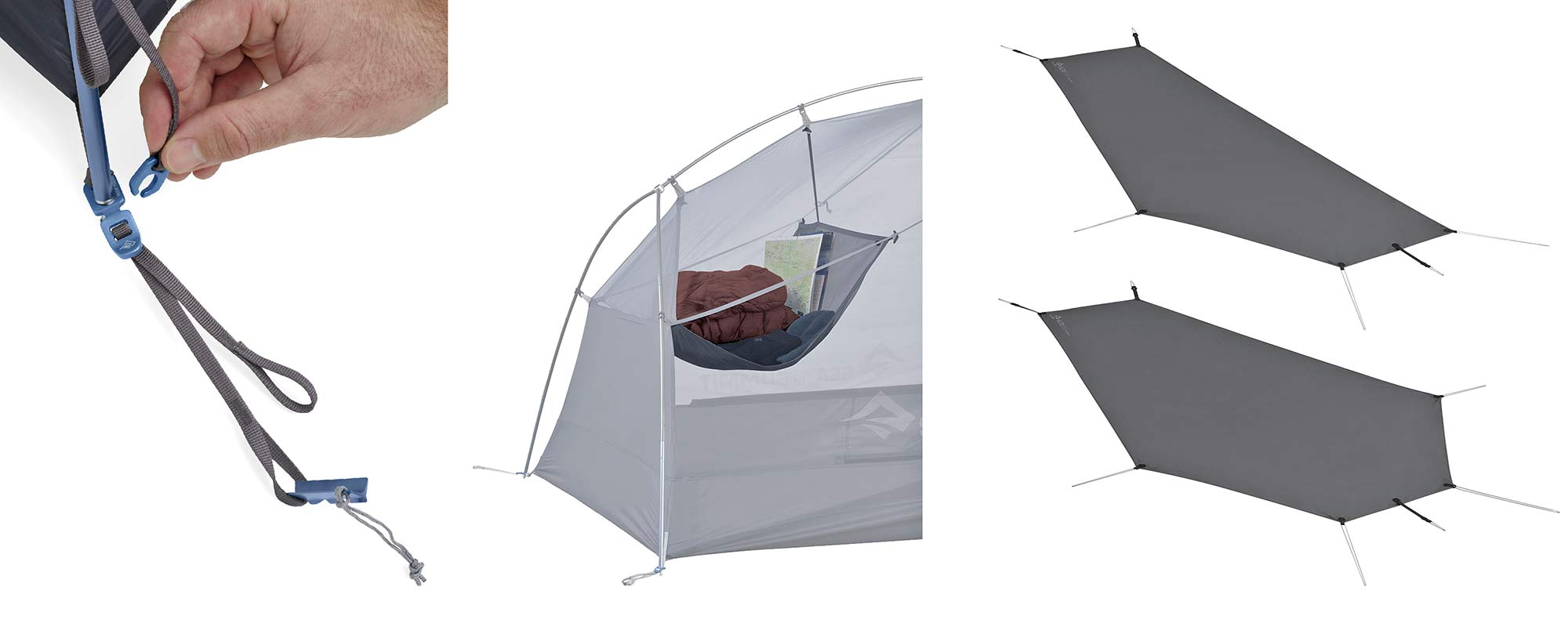 Sea to Summit Alto and Telos TR lightweight tents, Tension Ridge modular 3-season ultralight bikepacking tent,in the details