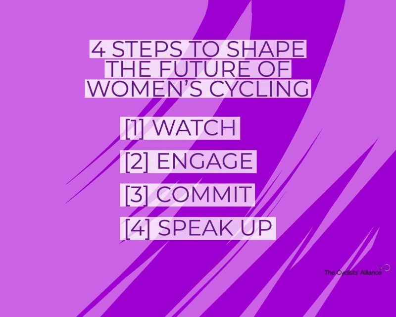 The Cyclists' Alliance 4 steps for better pro women cycling future