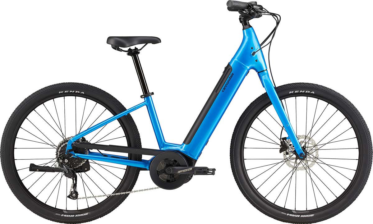 cannondale adventure neo 4 blue ebike commuter