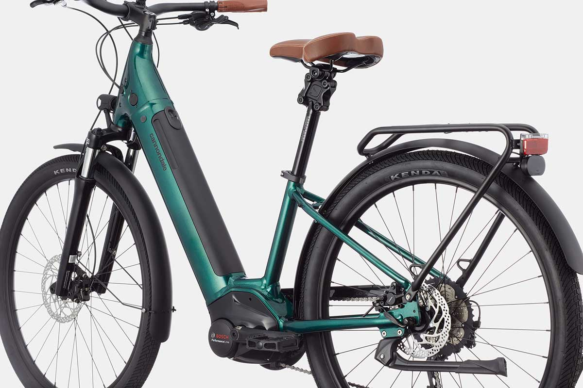 cannondale adventure evo ebike green